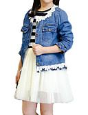 baratos Moletons com Capuz e Sem Capuz Femininos-Infantil Para Meninas Básico Moda de Rua Diário Feriado Listrado Com Transparência Manga Longa Padrão Algodão Conjunto Azul