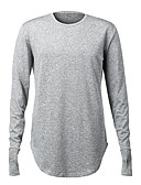 ieftine Maieu & Tricouri Bărbați-Bărbați Rotund Tricou Mată / Manșon Lung