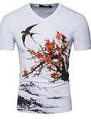ieftine Maieu & Tricouri Bărbați-Bărbați Tricou De Bază - Floral / Animal Imprimeu