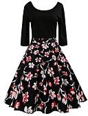 povoljno Vintage kraljica-Žene Vintage / Osnovni Swing kroj Haljina Cvjetni print Do koljena