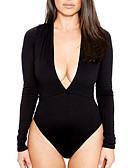 preiswerte Hübsche sexy Damenkleidung-Damen Solide Bodysuit