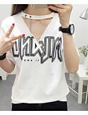 tanie T-shirt-T-shirt Damskie W serek Litera / Litera