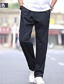 baratos Calças e Shorts Masculinos-Homens Básico Tamanhos Grandes Calças Esportivas Calças - Sólido Preto / Esportes / Verão / Outono