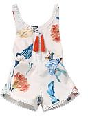 cheap Women's Denim Jackets-Baby Girls' Basic Floral Sleeveless Cotton Romper / Toddler
