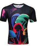 ieftine Maieu & Tricouri Bărbați-Bărbați Tricou De Bază / Șic Stradă - Bloc Culoare Imprimeu