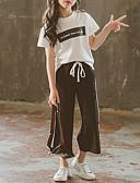povoljno Kompletići za djevojčice-Djeca Djevojčice Aktivan / Ulični šik Izlasci Geometrijski oblici Drapirano / Print Kratkih rukava Pamuk Komplet odjeće