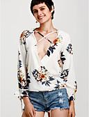 cheap Women's Blouses-Women's Active Blouse - Floral V Neck / Summer