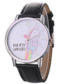 ieftine Quartz-Xu™ Pentru femei Ceas Elegant Ceas de Mână Quartz Creative Ceas Casual Mare Dial PU Bandă Analog Desen animat Modă Negru / Alb / Albastru - Gri Maro Albastru Un an Durată de Viaţă Baterie