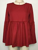 preiswerte Hemd-Damen Solide-Street Schick T-shirt