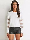 tanie T-shirt-Puszysta T-shirt Damskie Podstawowy, Z wycięciem Bawełna Wyjściowe Szczupła - Solidne kolory / Lato