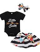 cheap Baby Girls' Clothing Sets-Baby Girls' Print Short Sleeve Clothing Set