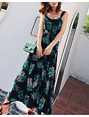 baratos Vestidos de Mulher-Mulheres Praia Bainha Vestido Decote V Médio / Sexy