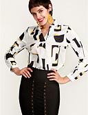 economico Camicie da donna-Blusa Per donna Ufficio Moda città Collage, Monocolore A V / Primavera