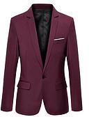 ieftine Blazer & Costume de Bărbați-blazer de lucru pentru bărbați - guler de cămașă solid colorat