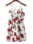 povoljno Ženski jednodijelni kostimi-Žene Odjeća za igru Cvjetni print S naramenicama Wide Leg