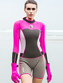levne Tričko-HISEA® Dámské Krátký neopren 1,5 mm SCR Neoprén Potápěčské obleky Natahovací Dlouhý rukáv Módní