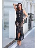 זול שמלות נשים-מידי תחרה שמלה בתולת ים \חצוצרה בגדי ריקוד נשים