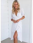 ieftine Dresses For Date-Pentru femei Ieșire Zvelt Teacă Rochie V Adânc Lungime Genunchi