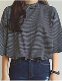 ieftine Cămașă-Pentru femei Stil Nautic Tricou Concediu Bumbac Șic Stradă - Dungi Imprimeu / Vară / Larg