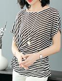 ieftine Bluze Damă-Pentru femei Tricou Dungi Albastru & Alb / Alb negru