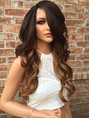 cheap Women's Blazers-Human Hair Lace Front Wig / Glueless Lace Front Wig Brazilian Hair Wavy Layered Haircut 130% Density With Baby Hair / Ombre Hair / Natural Hairline Women's 10 inch / 12 inch / 14 inch Human Hair Lace