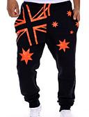 tanie Męskie spodnie i szorty-Męskie Sportowy Szczupła Typu Chino Spodnie - Solidne kolory Czarny