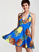preiswerte Damen zweiteilige Anzüge-Damen Festtage A-Linie Kleid - Rückenfrei, Frucht Mini Halter Hohe Taillenlinie Ananas