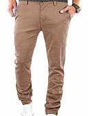 tanie Męskie spodnie i szorty-Męskie Podstawowy Rozmiar plus Typu Chino Spodnie - Nadruk, Jendolity kolor