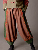 tanie Damskie spodnie-Damskie Podstawowy Luźna Typu Chino Spodnie Kolorowy blok