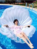 hesapli Gece Elbiseleri-Kabuk Şişme Havuz Şamandıraları PVC Dayanıklı, Şişirilebilir Yüzme / Su Sporları için Yetişkinler 160*135*30 cm