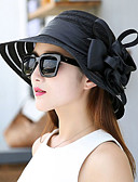 cheap Party Headpieces-Women's Party / Holiday Bucket Hat / Floppy Hat / Straw Hat - Patchwork Ruffle