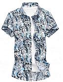 זול חולצות לגברים-חולצת גברים - צווארון חולצה גיאומטרי