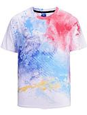 olcso Férfi pólók-Aktív / Túlzott Férfi Póló - Szivárvány
