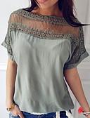 cheap Women's Shirts-Women's T-shirt - Solid Colored Boat Neck
