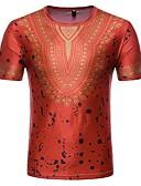billige Herreskjorter-Bomull Tynn Rund hals Store størrelser T-skjorte Herre - Tribal / Kortermet