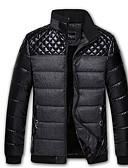 זול מעילי פוך ופרקה לגברים-עומד אחיד מרופד בגדי ריקוד גברים / שרוול ארוך