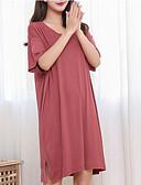 billige Hættetrøjer og sweatshirts til herrer-Dame U-hals Babydukke Pyjamas Ensfarvet