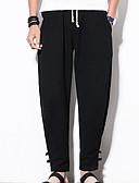 tanie Męskie koszule-Męskie Wzornictwo chińskie Bawełna Typu Chino Spodnie Solidne kolory