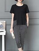 ieftine Fuste de Damă-Pentru femei Mărime Plus Size Mâneci Bufante De Bază Bluză - Mată, Pantaloni Plisată