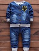 povoljno Kompletići za dječake-Dijete koje je tek prohodalo Dječaci Osnovni Print Dugih rukava Pamuk Komplet odjeće Plava