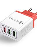billige Sexet dametøj-Oplader til hjemmet / Lille og mobil oplader USB oplader EU  Stik QC 3.0 3 USB-porte 4.8 A 100~240 V for Universel