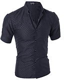 cheap Men's Shirts-Men's Basic Shirt - Solid Colored