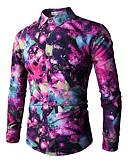 povoljno Muške košulje-Majica Muškarci - Osnovni Dnevno / Vikend Color block / Duga Print