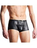 baratos Moda Íntima Exótica para Homens-Homens Cueca Boxer Sólido Cintura Baixa