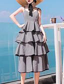 baratos Vestidos de Mulher-Mulheres Básico Bainha Vestido Médio
