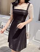 cheap Women's Dresses-women's basic a line dress knee-length