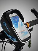 رخيصةأون ستيان-ROCKBROS حقيبة الهاتف الخليوي / حقيبة دراجة الإطار الشاشات التي تعمل باللمس, مقاوم للماء, خفة الوزن حقيبة الدراجة TPU / EVA / بوليستر حقيبة الدراجة حقيبة الدراجة أخضر الدراجة