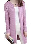 baratos Suéteres de Mulher-Mulheres Manga Longa Delgado Carregam - Sólido / Primavera / Outono