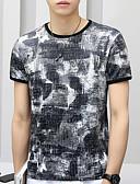 tanie Koszulki i tank topy męskie-T-shirt Męskie Moda miejska Okrągły dekolt Kamuflaż / Krótki rękaw