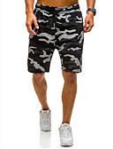 ieftine Pantaloni Bărbați si Pantaloni Scurți-Bărbați De Bază Pantaloni Chinos Pantaloni - camuflaj Imprimeu Alb